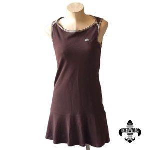 Lacoste sport brown mini dress